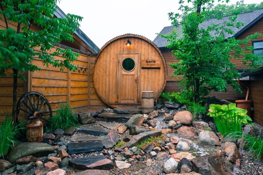 The Sauna in the Nordik Spa Ottawa
