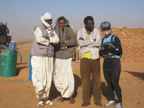 Sudan people and cyclist