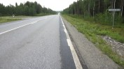 The Inlandsvägen, my route to be for the next thousand kms or so.