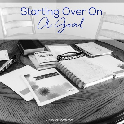 Starting Over On a Goal