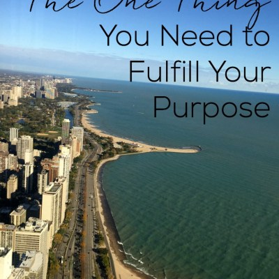 The One Thing You Need to Fulfill Your Purpose