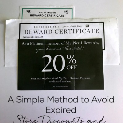 A Simple Method to Avoid Expired Store Discounts and Rewards