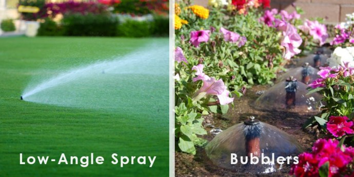 Examples of efficient irrigation methods for xeriscape.