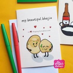 bhajiu greeting card