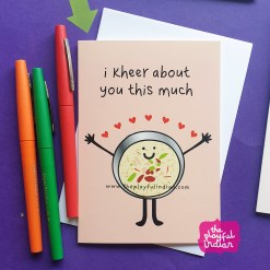 kheer indian greeting card