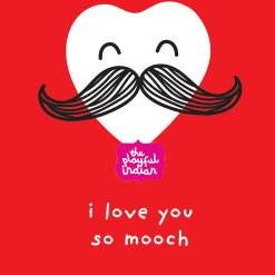 i love you so mooch valentines greeting card