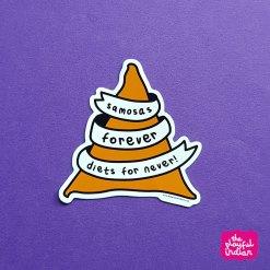 Samosas Forever Vinyl Sticker