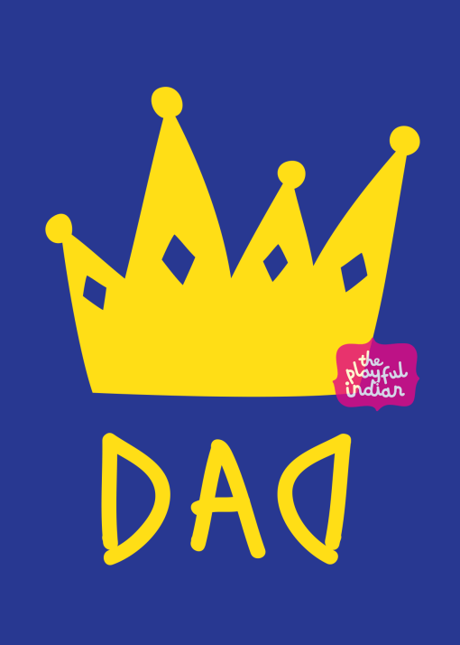 king of dads fathers day card