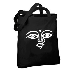 surya design black tote bag