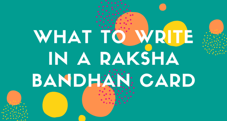 what to write in a raksha bandhan card