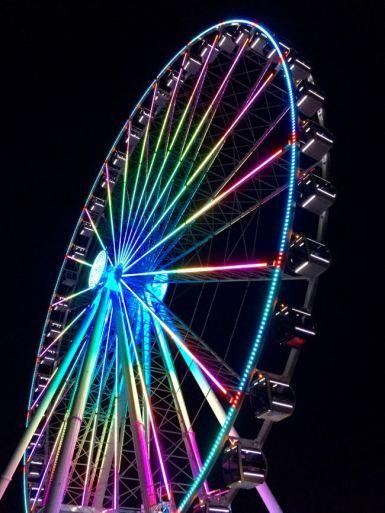 Capital Wheel at night National Harbor