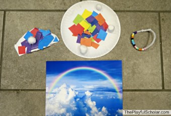 Rainbow Inspired Invitation to Create with Mother Goose Time