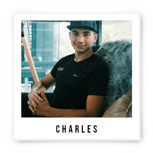 Who is our All Rounder, Boy Next Door, Trustworthy, Reliable and Passionate coach? Familiarize yourself with this unassuming local boy Charles who is ripped on the abs but soft at Heart. He's passionate in helping others in achieving a balanced lifestyle that encompasses all dimensions of health and wellness. With an extensive background in coaching, he lives in creating a training environment that will motivate and	empower individuals for challenging yet rewarding lifestyles. At The Playground, you might see him hop with the kids, jam with the bros and chill with the elders as part of his day! Avid Sweet Tooth Spartan Athlete Solo Traveller