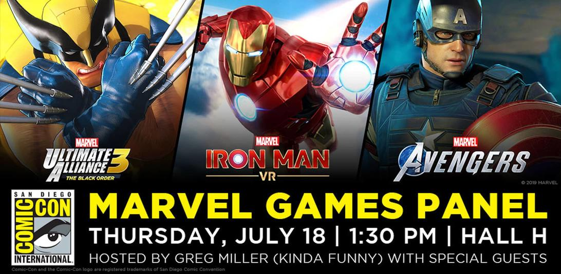 Marvel Games Invade San Diego Comic-Con with Trio of Games Including Iron Man VR and Marvel's Avengers