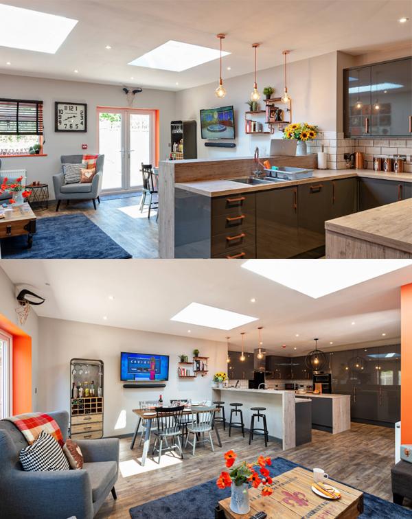 open kitchen cabinet design