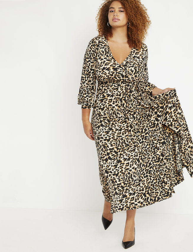 Fall 2019 Fashion Trends - Animal Print - Leopard Wrap Maxi Dress