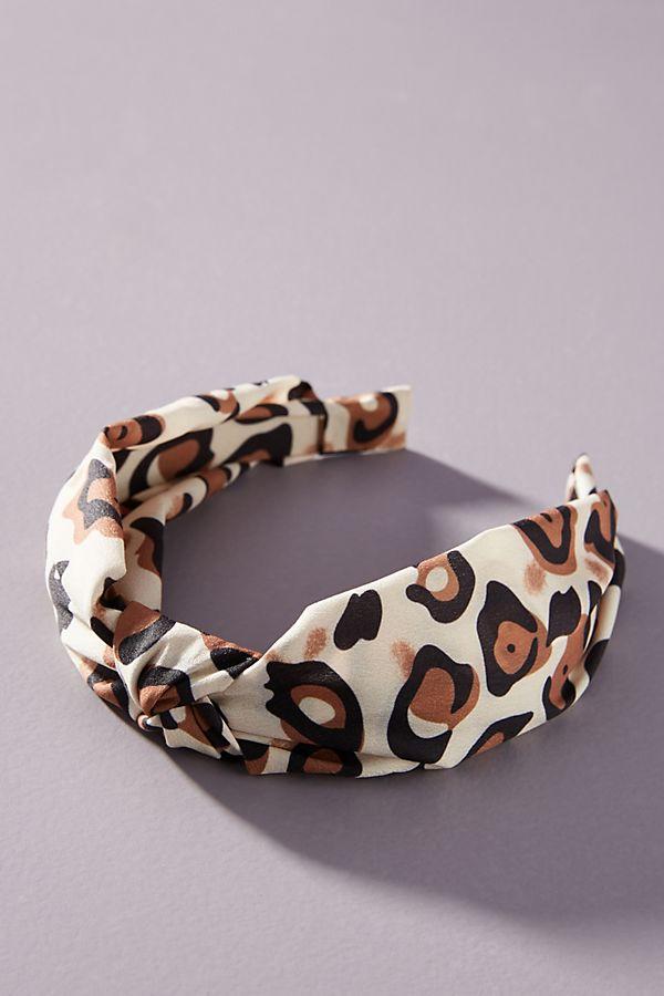 Fall 2019 Fashion Trends - Hair Accessories -  Cheetah Knotted Headband