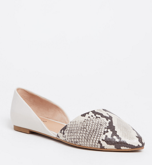 Fall 2019 Plus Size Fashion Trends - Animal Print - Snake Print Flats Wide Width