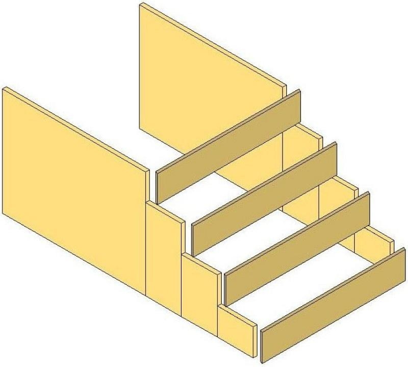How To Pour Concrete Steps ⋆ Theplywood Com | Concrete Filled Metal Pan Stairs | Staircase | Wood | Edge | 5 Flight | Detail