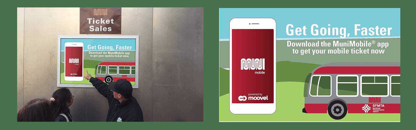 Moovel x Municipal Transit Agency (SFMTA) Partner Marketing example