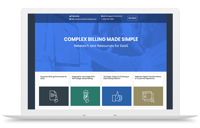Landing Page Example for GoTransverse