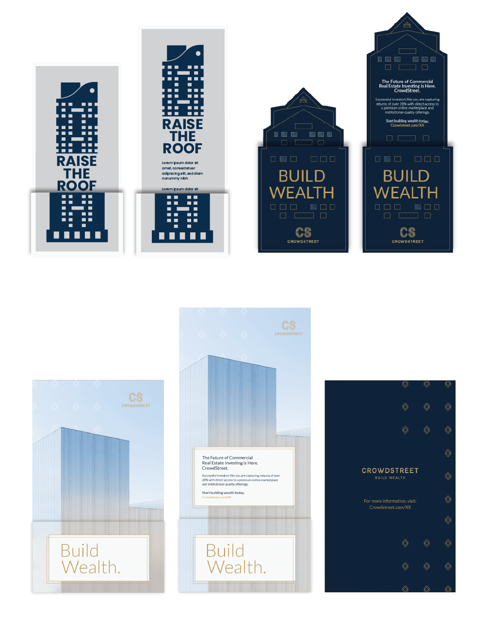 Creative Campaign Concepts for CrowdStreet Brand Relaunch with a direct mailer