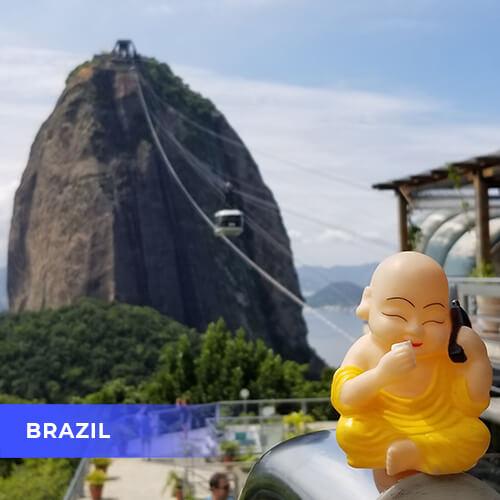 Buddha travels to Brazil