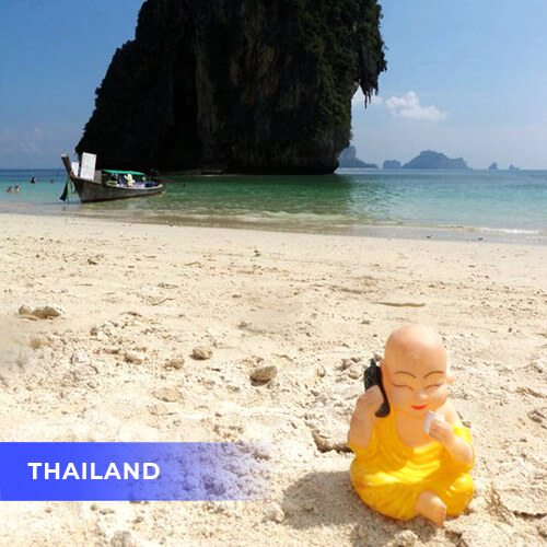 Buddha travels to Thailand