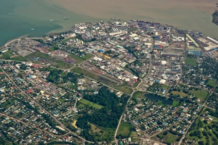 Port city of Lae