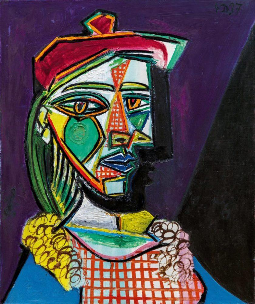 Lot-7-Pablo-Picasso-FEMME-AU-BÉRET-ET-À-LA-ROBE-QUADRILLÉE-MARIE-THÉRÈSE-WALTER-est.-upon-request-860x1024