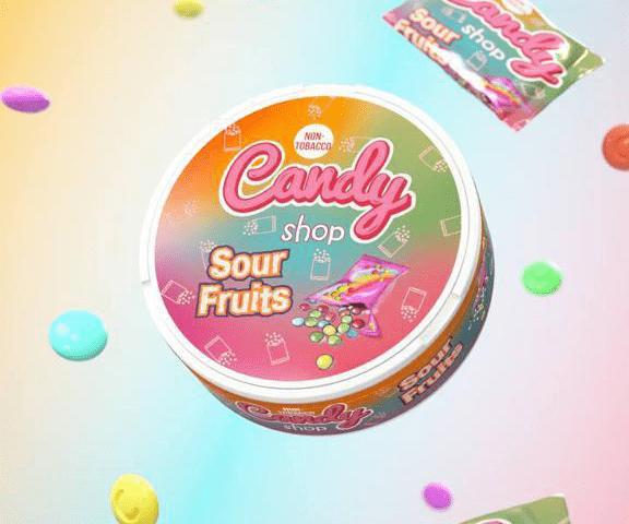 Candy Shop Sour Fruits Flavour Nicotine Pouches