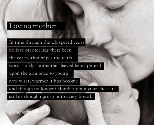 Loving mother