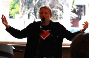 Poetry performance: Jackson at The Dan, photo by Lorenna Grant