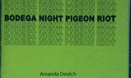 REVIEW: BODEGA NIGHT PIGEON RIOT – AMANDA DEUTCH (ABOVE/GROUND PRESS)