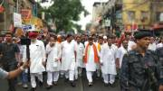 BJP leaders at protest in Bengal