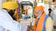 Prime Minister Narendra Modi on Saturday thanked his Pakistan counterpart Imran Khan for respecting the sentiments of India as he flagged off the first pilgrimage to Darbar Sahib in Pakistan after inaugurating the Kartarpur Corridor here.