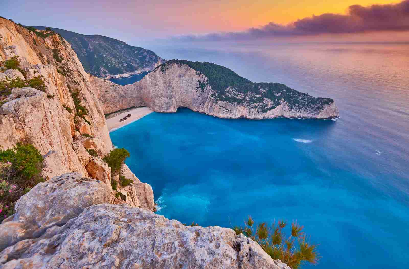 Navagio Beach on Zakynthos island, Greece. (Photo by Zick Svift / Shutterstock)