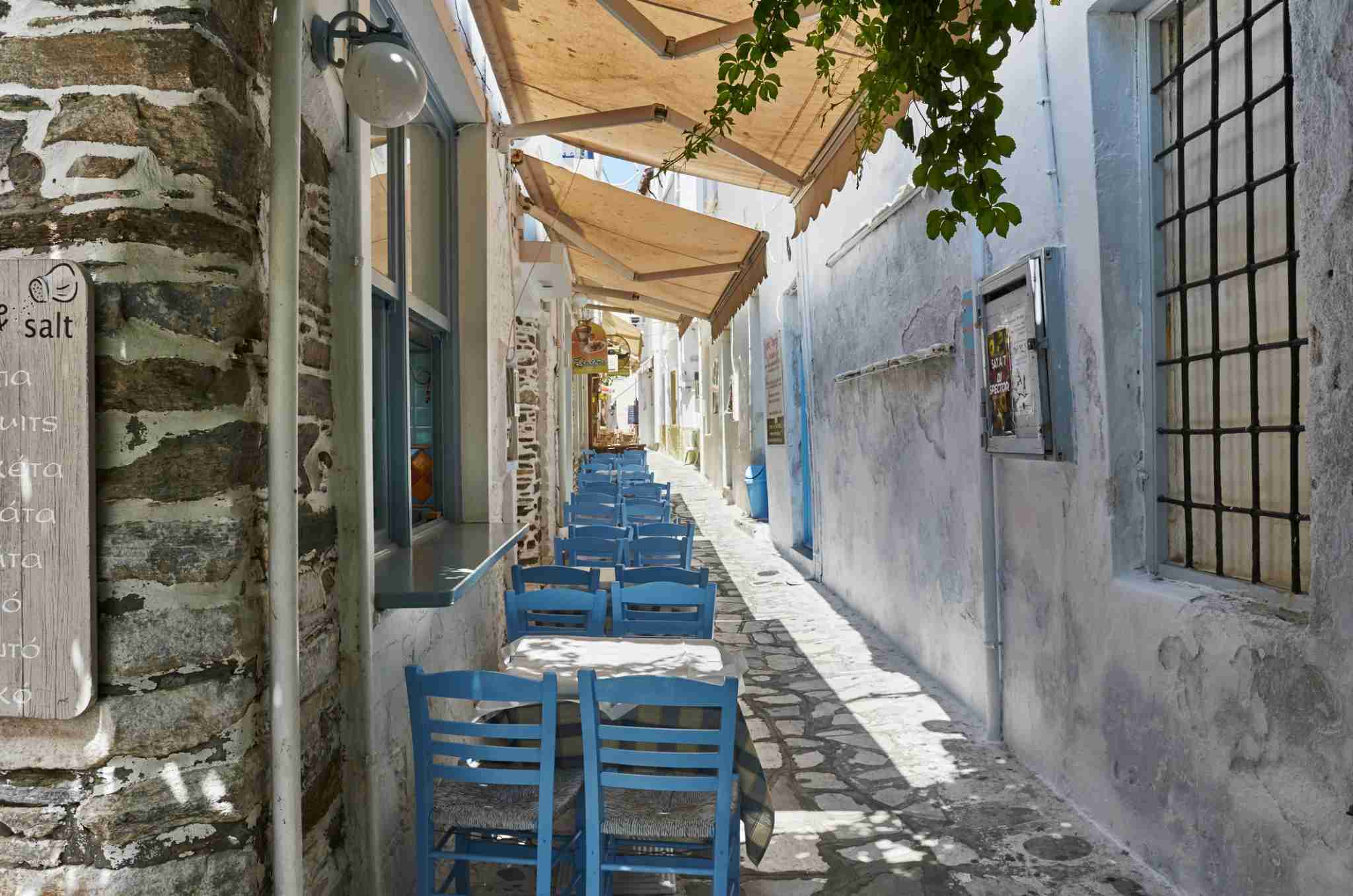 The island Tinos is a typical greek holiday place. People go on vacation the to see traditional greek culture, enjoy a good greek meal and relax