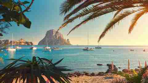 Cala d'Hort beach Ibiza Spain
