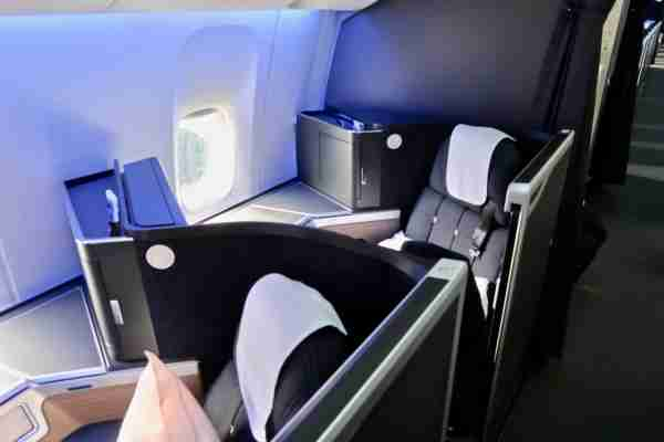 Seat 8K on the refurbished B777-200