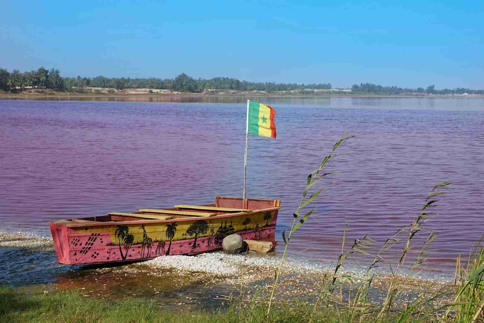 Retba Lake in Senegal. (Photo by Cyril Papot/Shutterstock)