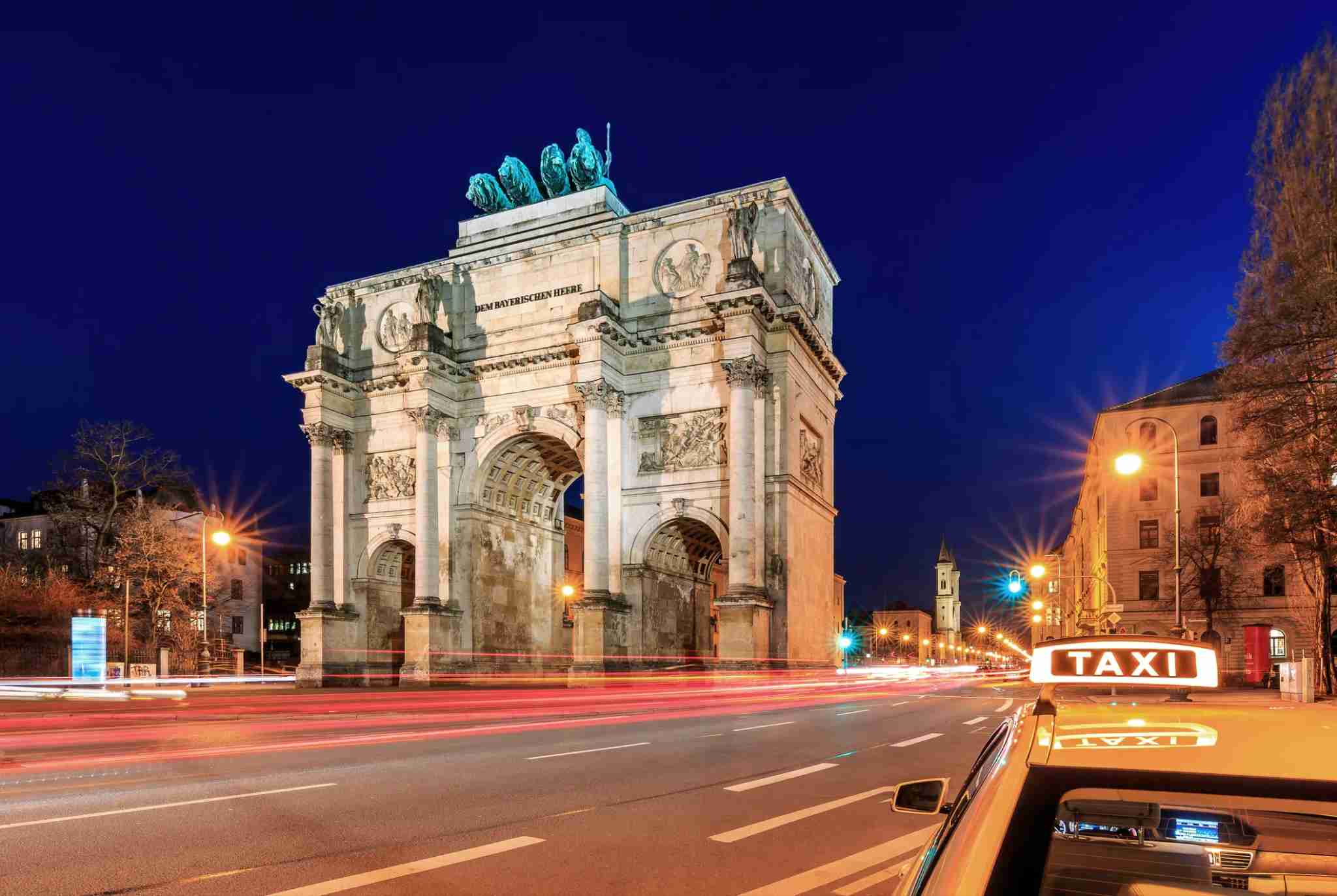 The Siegestor is a triumphal arch in Munich, Bavaria. It was built from 1844 to 1850.