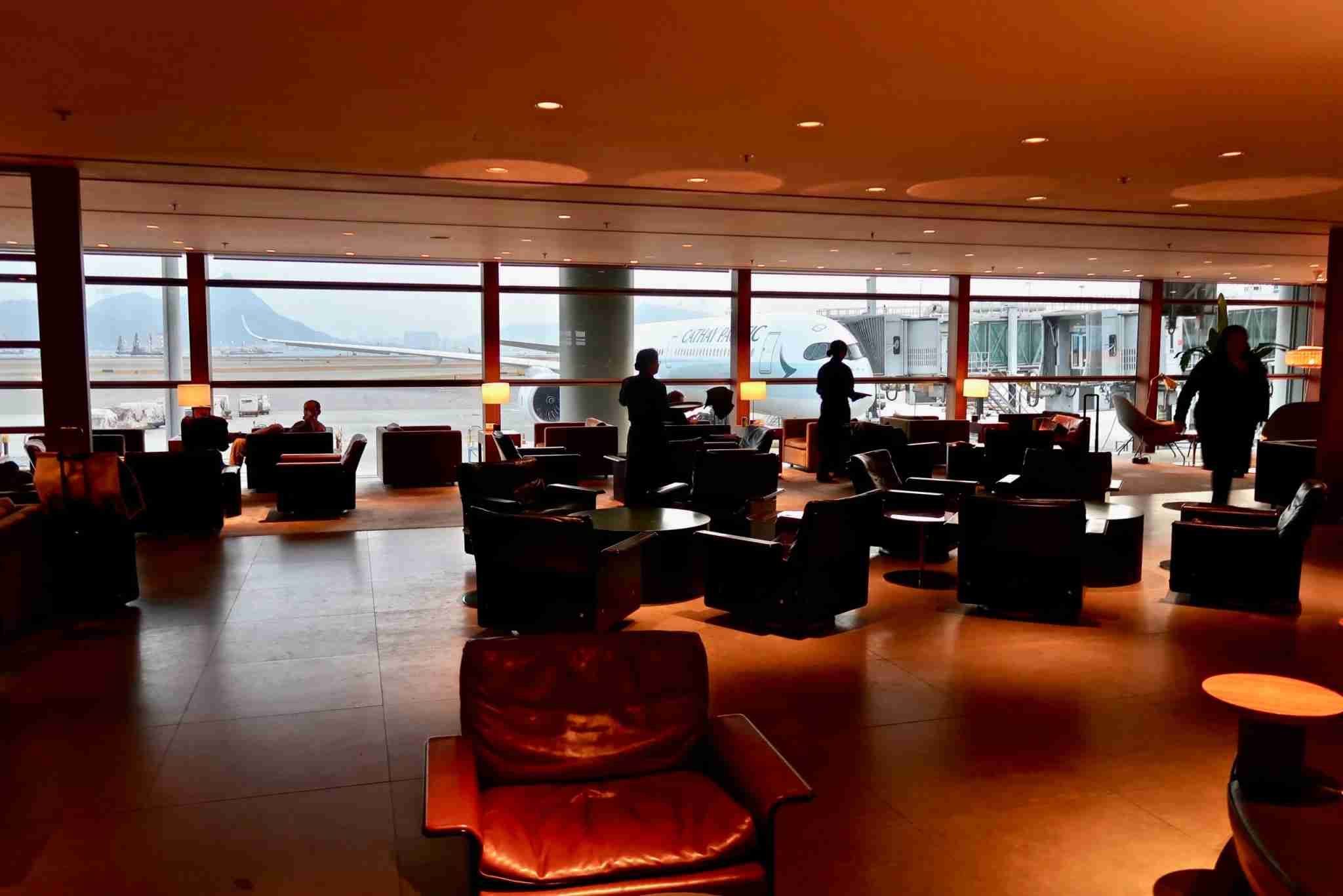 Cathay Pacific Hong Kong Tier Pier Business Class Lounge