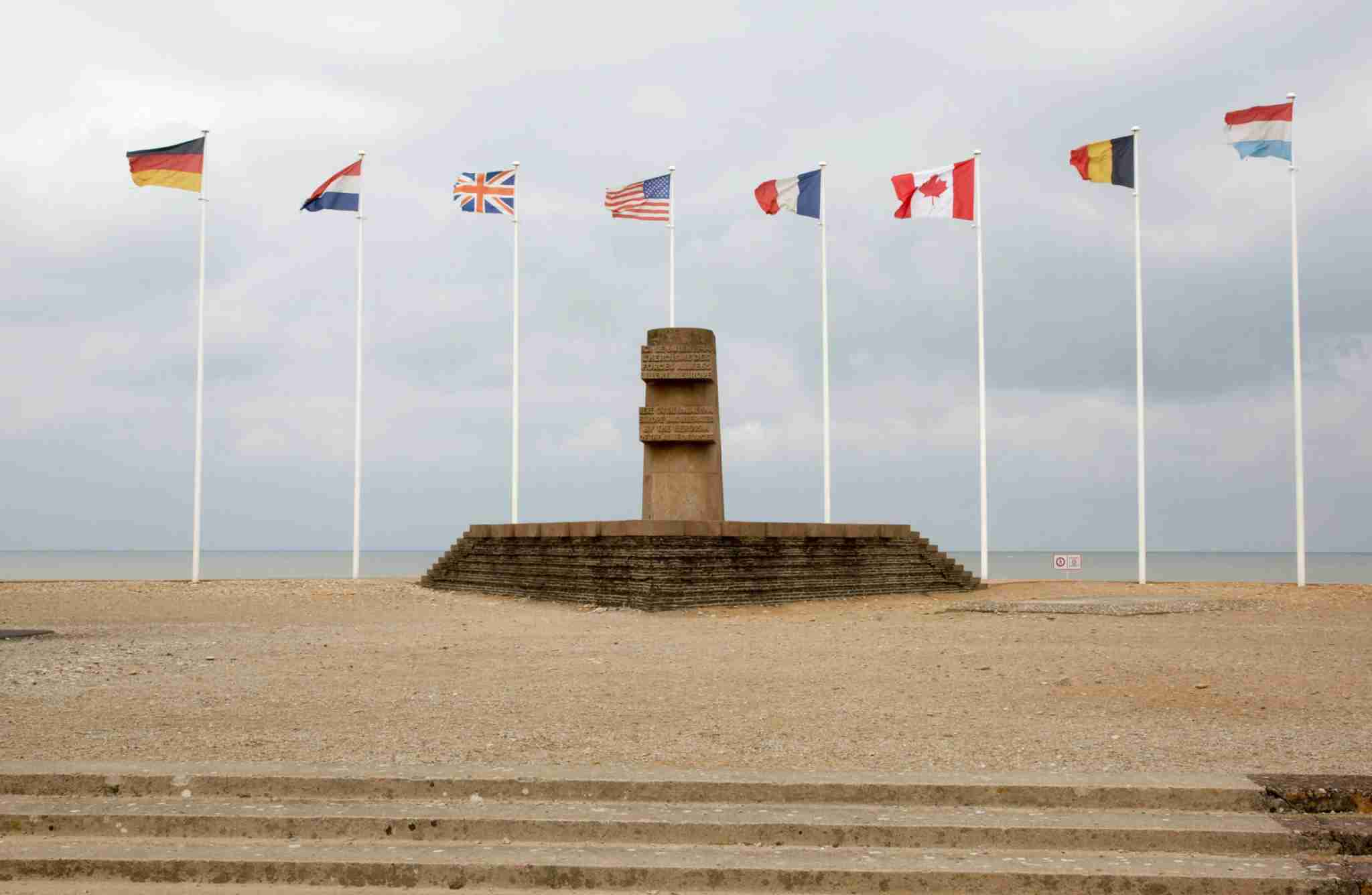 Memorial to WW2 soldiers Juno Beach Normandy