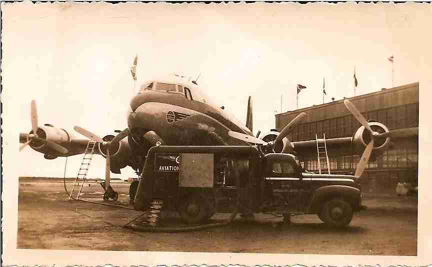 Aircraft on the ground in Gander in the 1950s. (Image courtesy of the Town of Gander)
