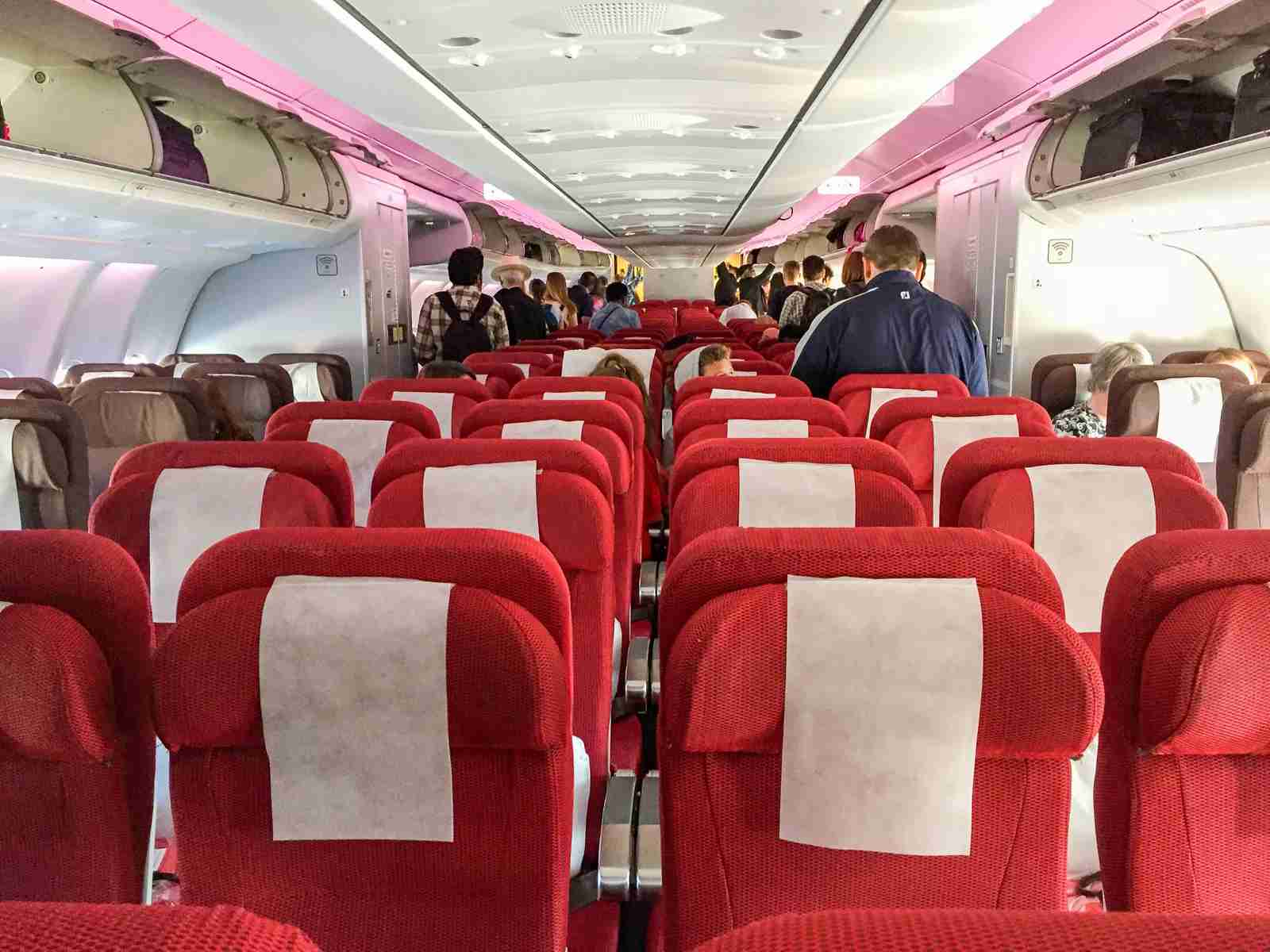 Seats in the economy cabin of a Virgin Atlantic A330 (G-VUFO) (Photo by Nick Ewen / The Points Guy)