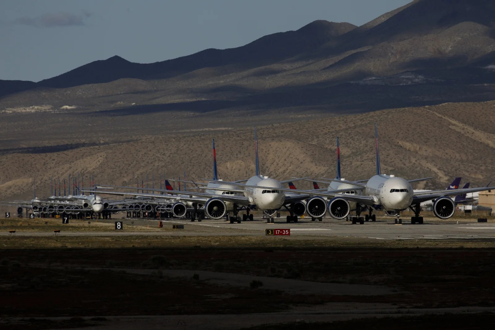 Watch: How planes are stored because of the coronavirus