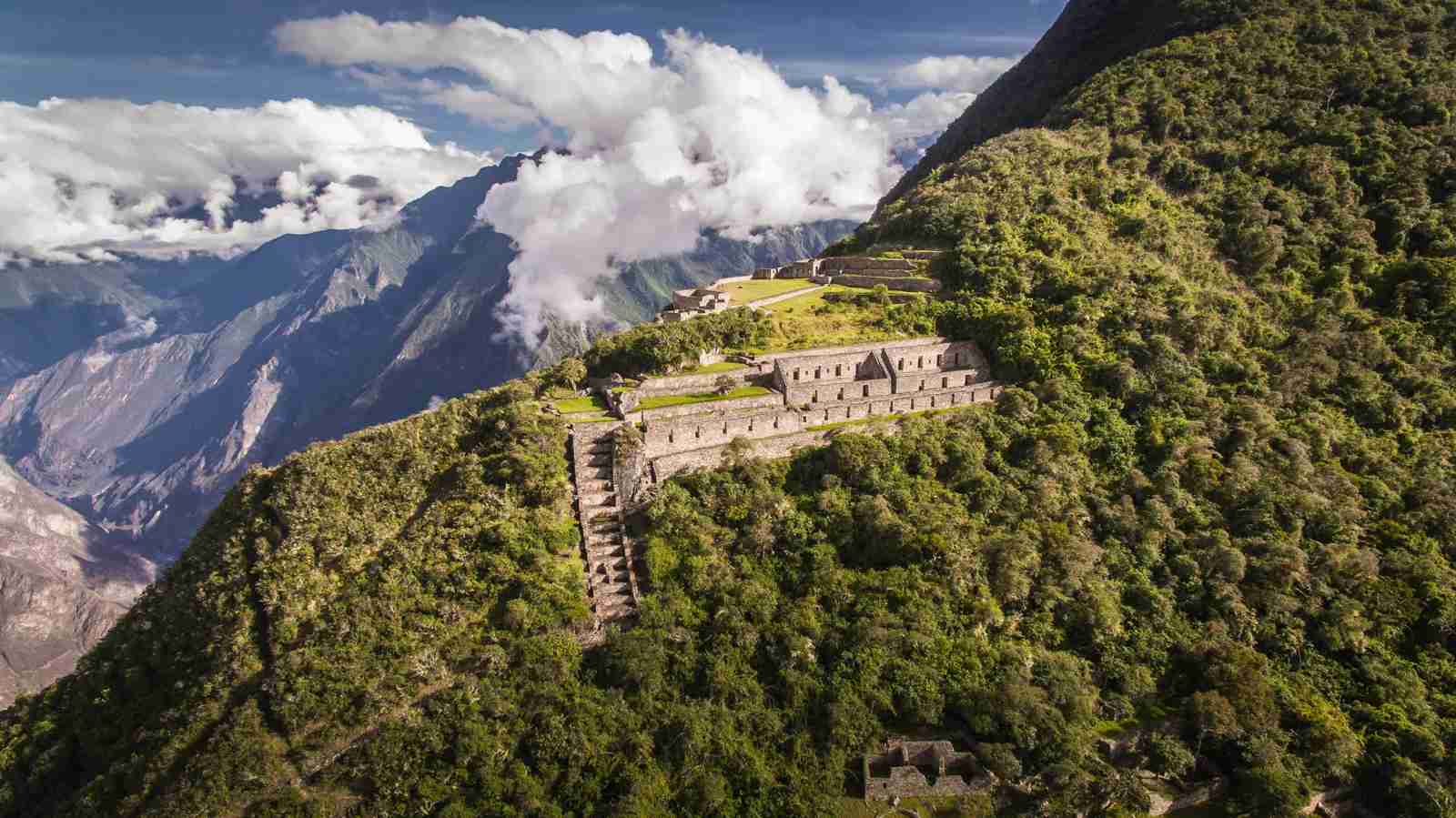 Choquequirao in Peru. (Photo by Crhistian Declercq/Getty Images)
