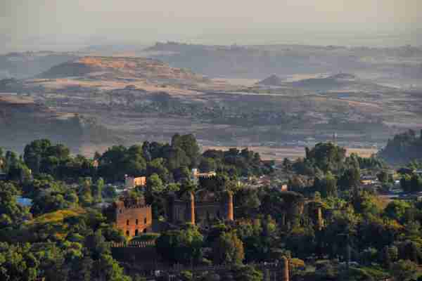Gondar castle in Ethiopia. (Photo by Neal Wilson/Getty Images)