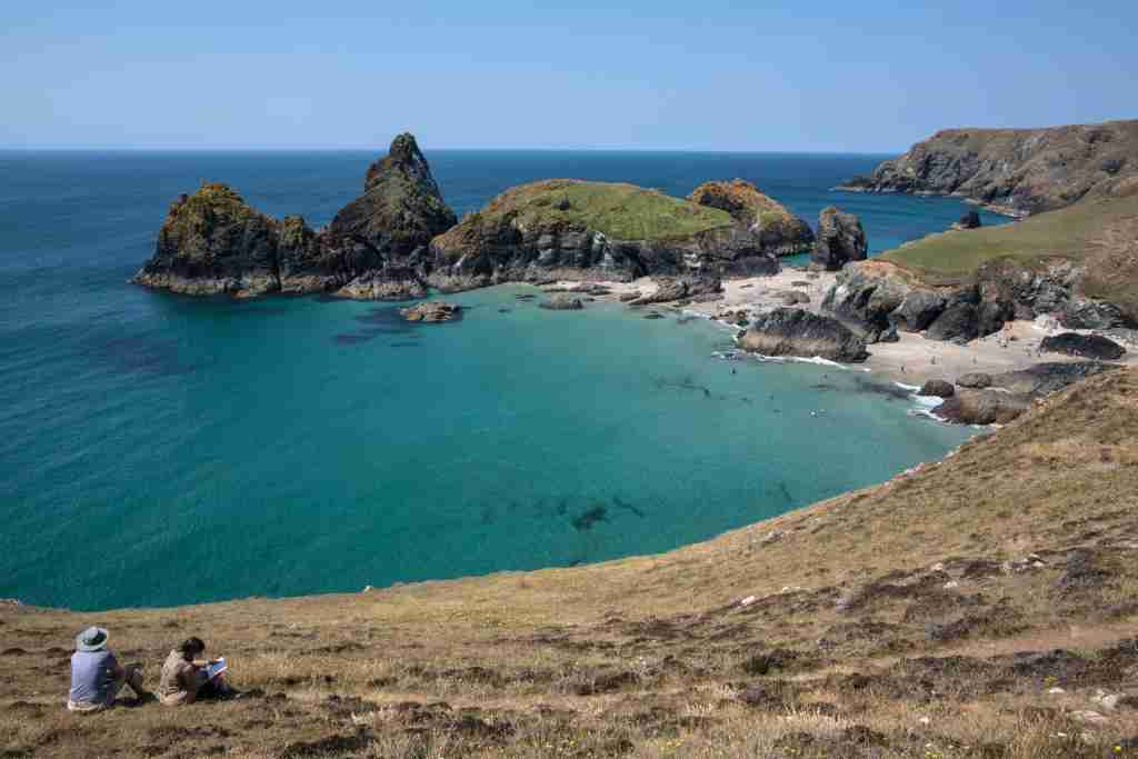 Kynance Cove on the Lizard Peninsula on June 29, 2018 in Cornwall, England. Parts of the UK are still continuing to experience heatwave weather and record breaking temperatures.(Photo by Matt Cardy/Getty Images)